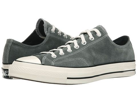 Chuck taylor all star 70 ox suede charcoal egret, Converse, Black. Suede  ConverseMens Suede ShoesConverse ...