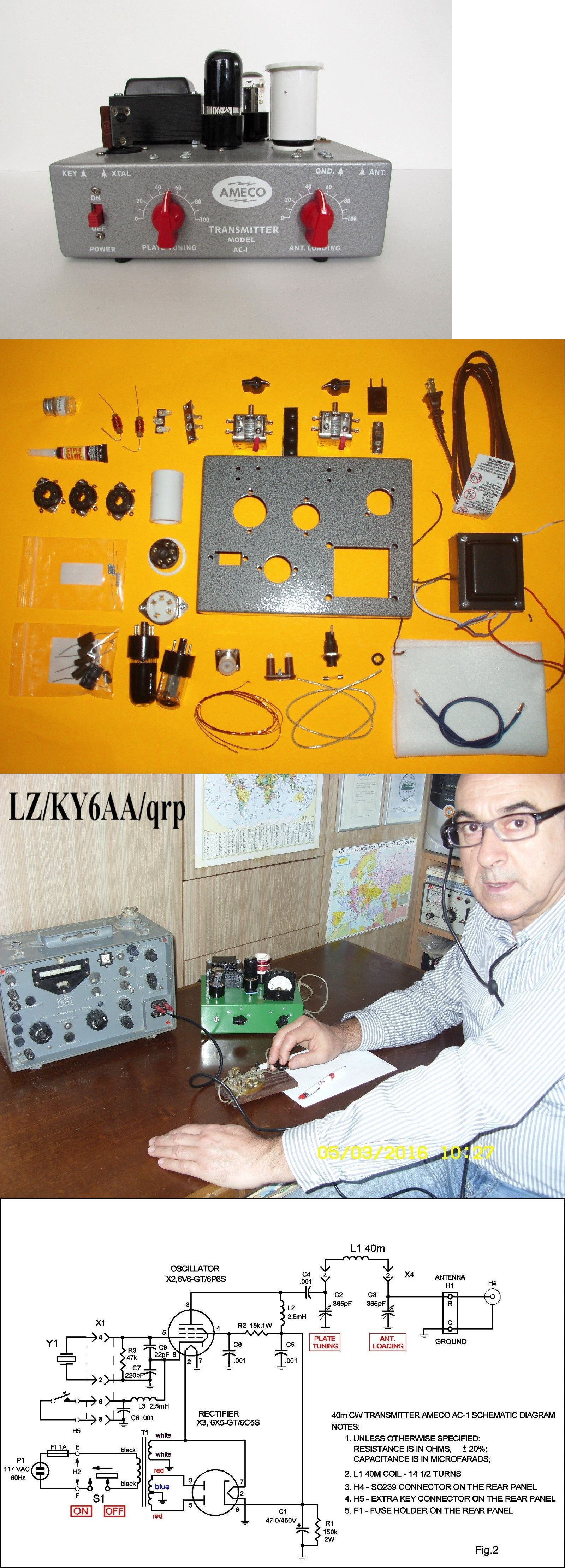 Ham radio transmitters ameco ac 1 transmitter diy do it yourself ham radio transmitters ameco ac 1 transmitter diy do it yourself replica solutioingenieria Image collections