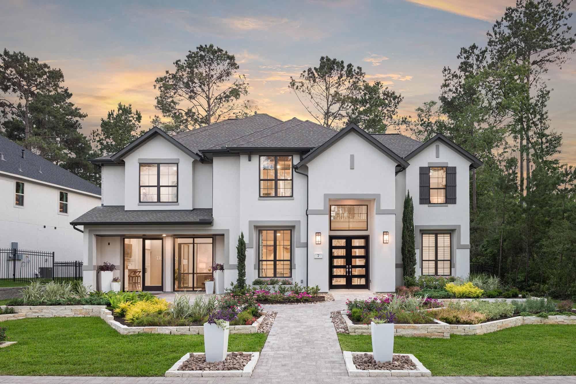 Start Your New Home Search With Trendmaker Homes Mediterranean House Designs Luxury Mediterranean Homes Beach House Design