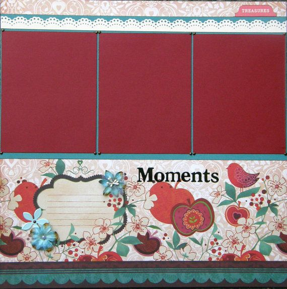 12x12 single page scrapbook layout Moments by ntvimage on