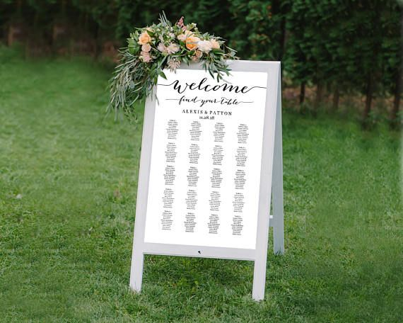 it s easy to create your own personalized wedding seating chart with