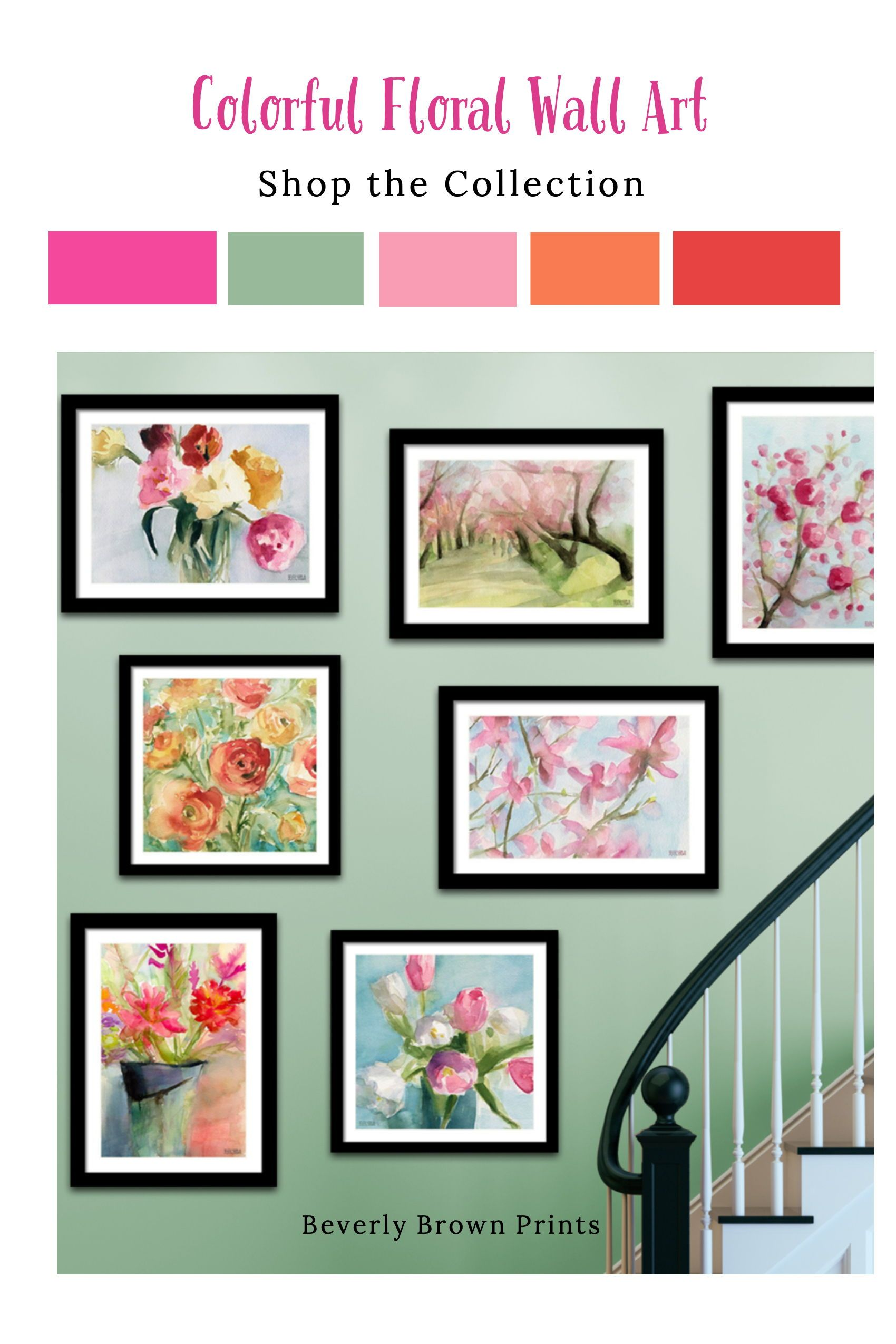 Colorful Classy Floral Wall Art Shop The Collection Floral Wall Art Flower Wall Art Floral Wall