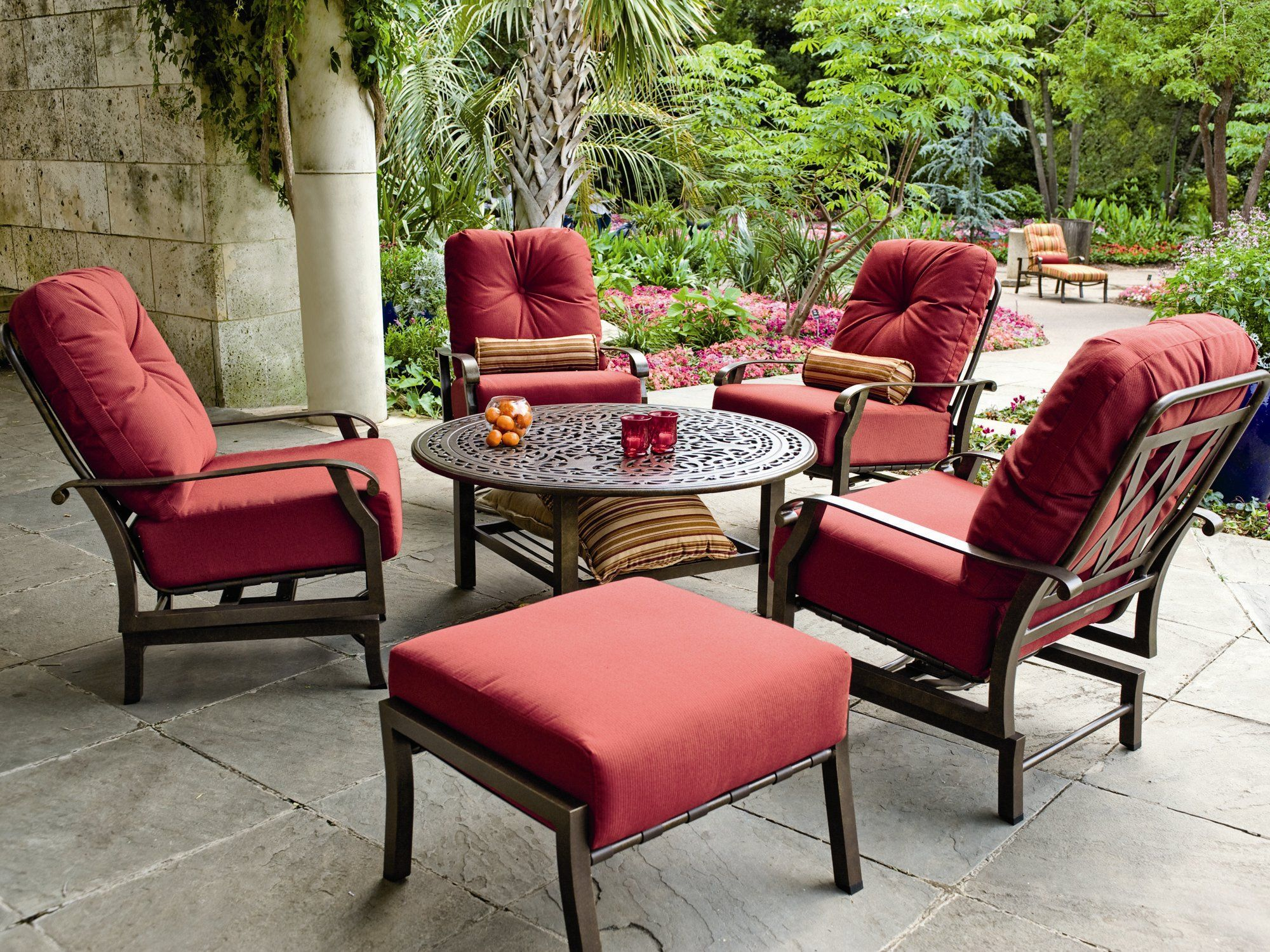 Woodard Cortland Cushion Aluminum Lounge Set Pinterest Patio