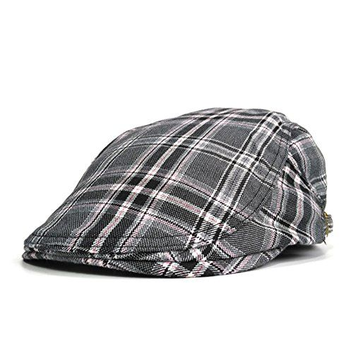 Soultopxin Mens Flat Cap Breatahble Newsboy Cap Cotton Ivy Gastby Cabbie Adjustable Sun Hat