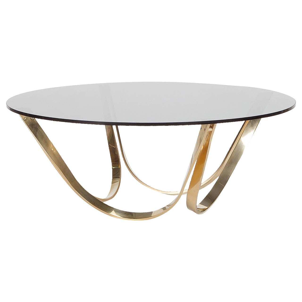 Brass And Smoked Glass Coffee Table By Roger Sprunger 1stdibs Com Glass Coffee Table Coffee Table Smoked Glass [ 1280 x 1280 Pixel ]