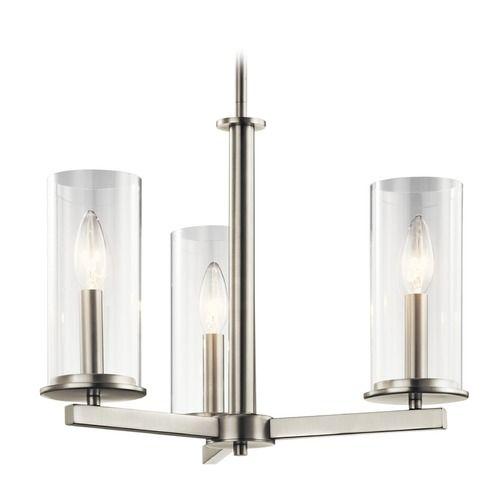 Kichler lighting crosby brushed nickel mini chandelier mini chandelier brushed nickel and hallway lighting