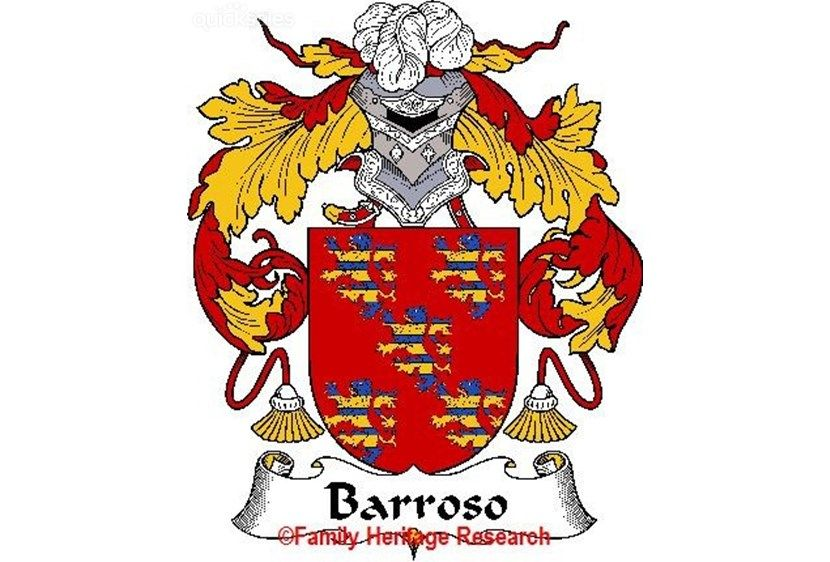 Barroso Spanish Coat of Arms Print Family Crest Barroso
