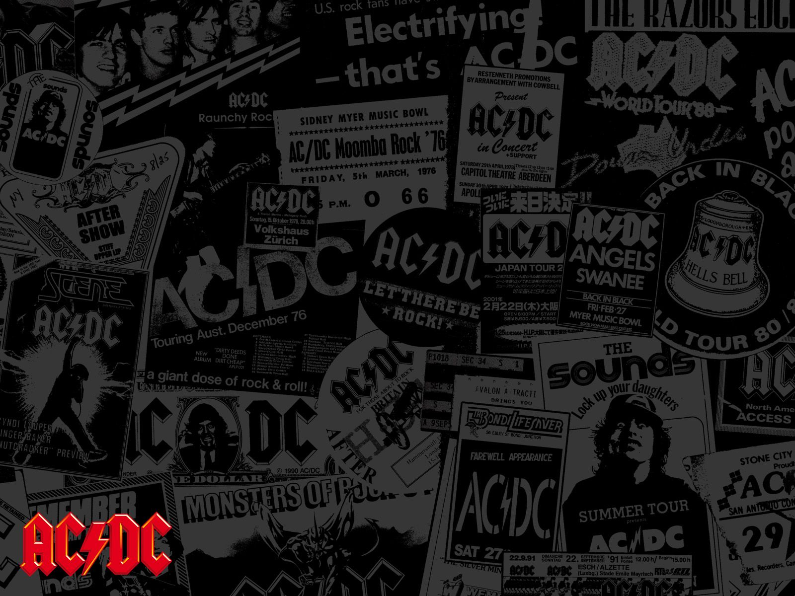 Megapost] Wallpapers AC/DC | Tela pc, Sonserina, Fundos