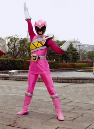 pink power ranger dino charge coloring