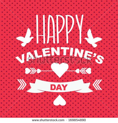 valentines day postertypographyvector illustration stock vector