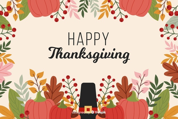 Download Flat Design Of Thanksgiving Background For Free