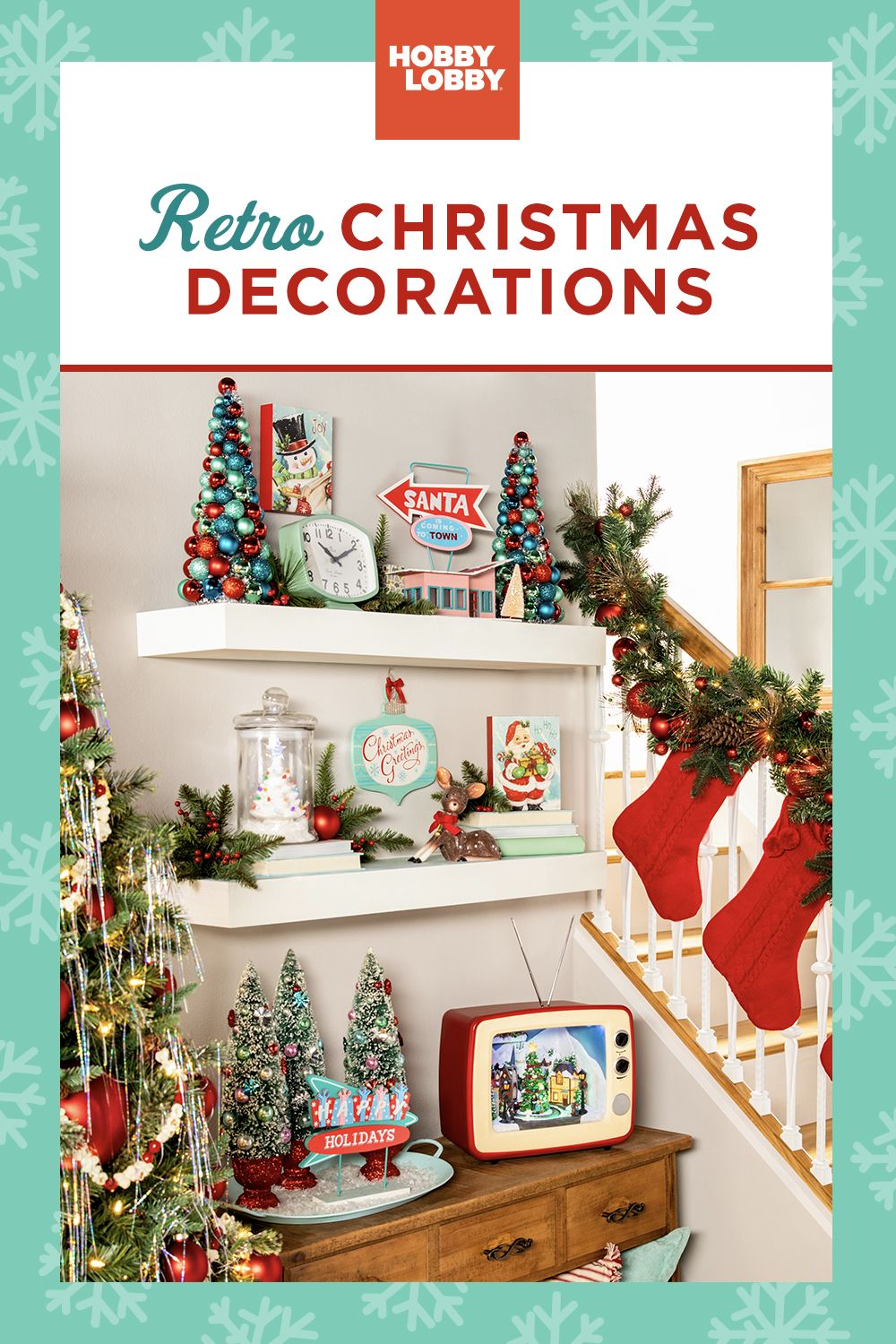 Shop Retro Decor At Your Local Hobby Lobby Diy Christmas Ornaments Easy Christmas Interiors Christmas Room Decor