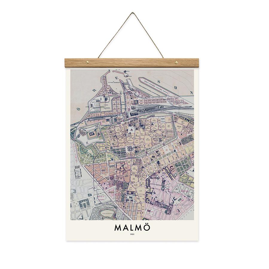 Malmö Map Poster Från Owl Streets Hos ConfidentLivingse Buy At - Buy map posters