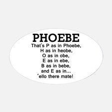 72892d035cd48 P as in Phoebe' Decal for | w i s h l i s t | Friends tv show gifts ...