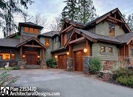 Plan 23534jd 4 bedroom rustic retreat craftsman house for Craftsman log homes