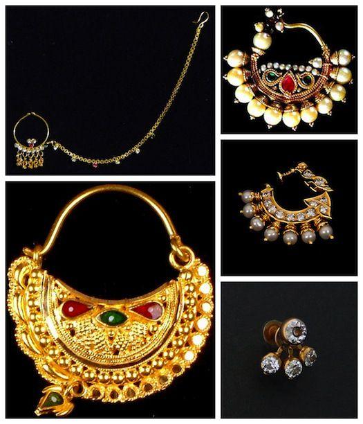 wedding nose ring collage indian wedding