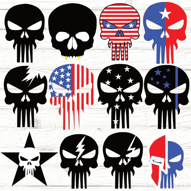 Skull Svg Punisher Skull Patriotic Skull American Flag Etsy Punisher Skull American Flag American Flag Wallpaper Punisher Skull Decal