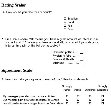 Example Of Question Types  Cercetare    Survey Design