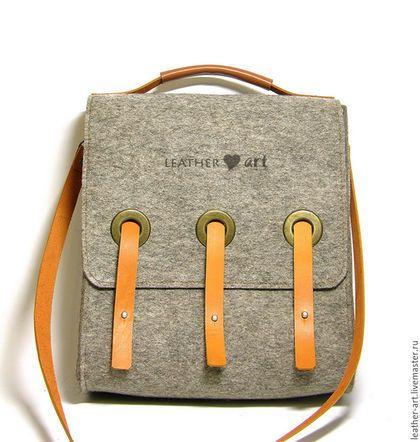 b801a3e6361a Женские сумки ручной работы. Ярмарка Мастеров - ручная работа. Купить Сумка  войлочная женская Портфель