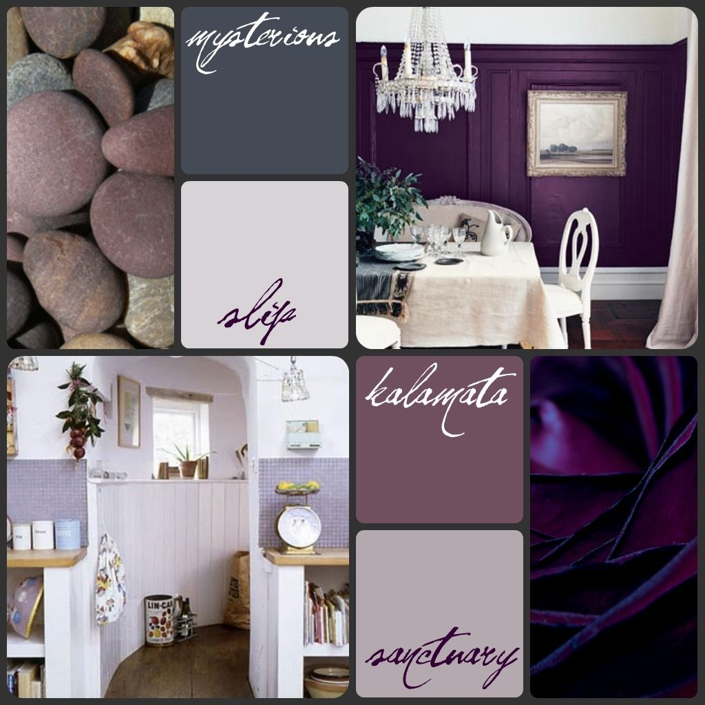 Victorian Home Purple Benjamin Moore Paint Mood Board