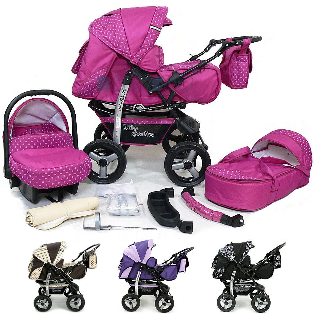 Baby Pram Stroller Pushchair + Car Seat Carrycot Buggy Travel System Details About Baby Pram Stroller Pushchair Car Seat