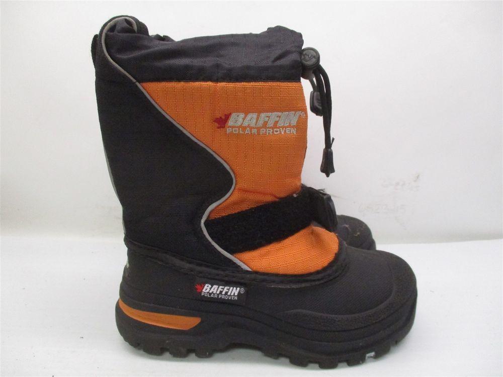 02730ba83e7 BAFFIN Boots Kids Size 11 Insulated Ski Snow Winter Black/Orange ...