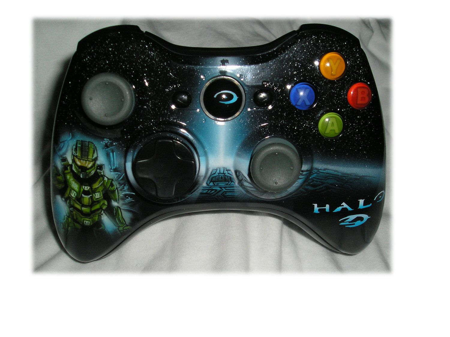 Xbox 360 custom painted controllers Halo4 Skyrim Call of ...