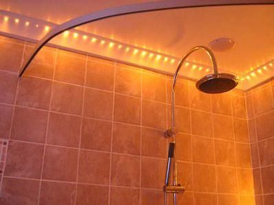 Shower Lighting Idea What A Great Idea Checked Out The Website They Say The Row Of Fibre Optic End
