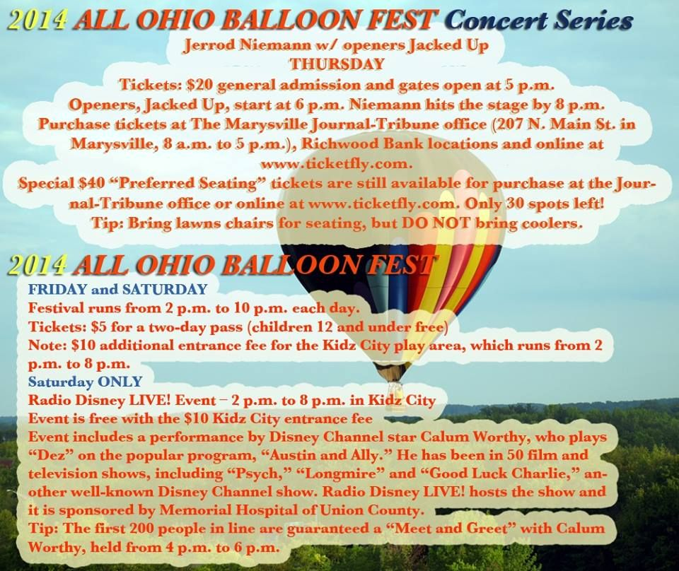Check Out The Amazing Line Up For This Years Balloon
