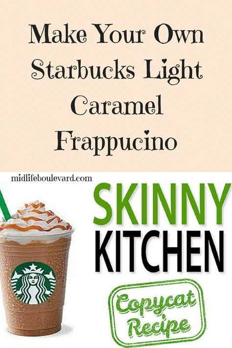 Make Your Own Starbucks Light Caramel Frappucino #ketofrappucinostarbucks