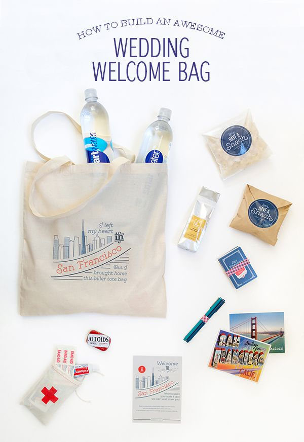 how to build an awesome wedding welcome bag bag wedding and wedding