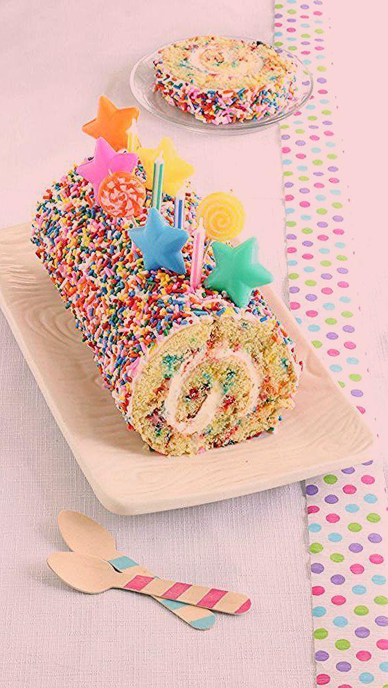 Photo of Confetti Cake Roll – Appetizer Recipes