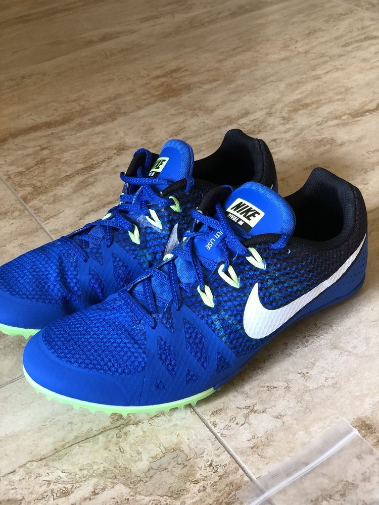 best service 25e08 4c4ff Nike Zoom Rival M 8 Track Field Sprint Spikes Shoes Sz 12 Blue Green 806555- 413  fashion  clothing  shoes  accessories  mensshoes  athleticshoes  ad  (ebay ...