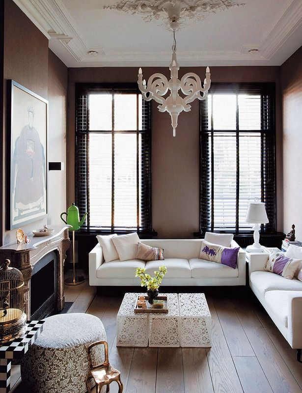 Contemporary Dutch Interior Design lovely #ceilingrose and small ...