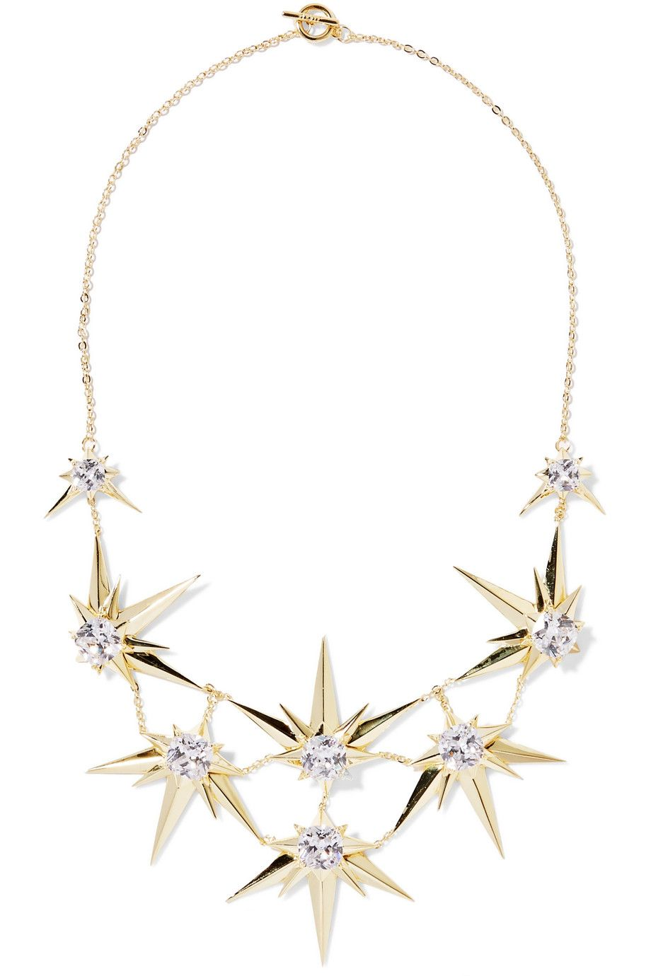 Shop on-sale Noir Jewelry Orionis gold-tone crystal necklace ...