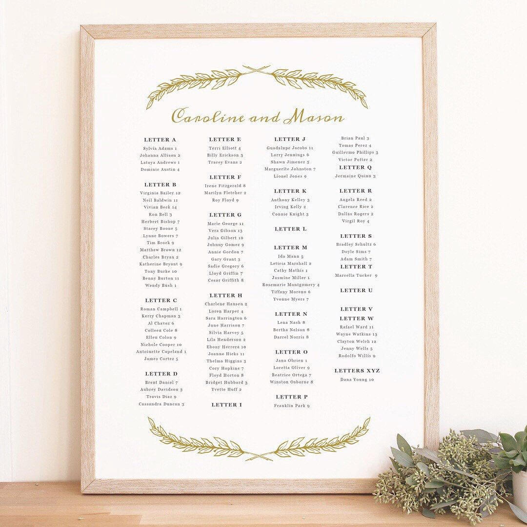 A Printable Seating Chart Template Is The Perfect Solution To Your
