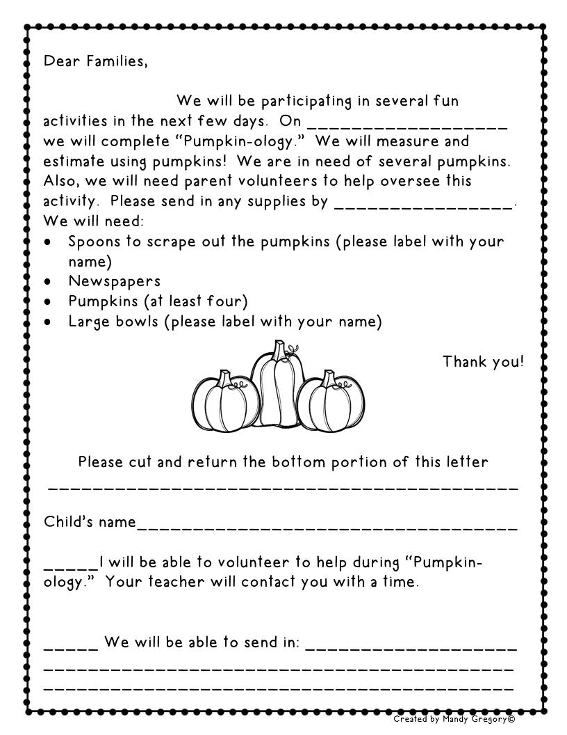 Pumpkin Math from Mandy's Tips for Teachers | October Classroom ...