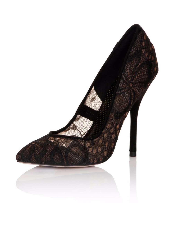 8b5393087101   Paper Dolls Black Lace  Moretz  Court Shoes