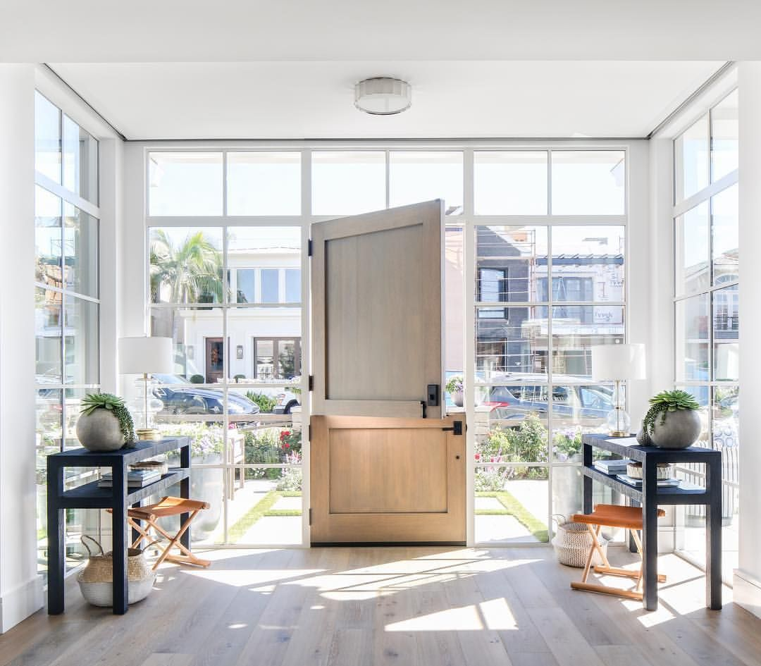 White Oak Dutch Door Magic Bordered By All The Steel Windows Is Just The Sunday Pick Me Up We Need Pattersoncustomhomes Thenewstandard