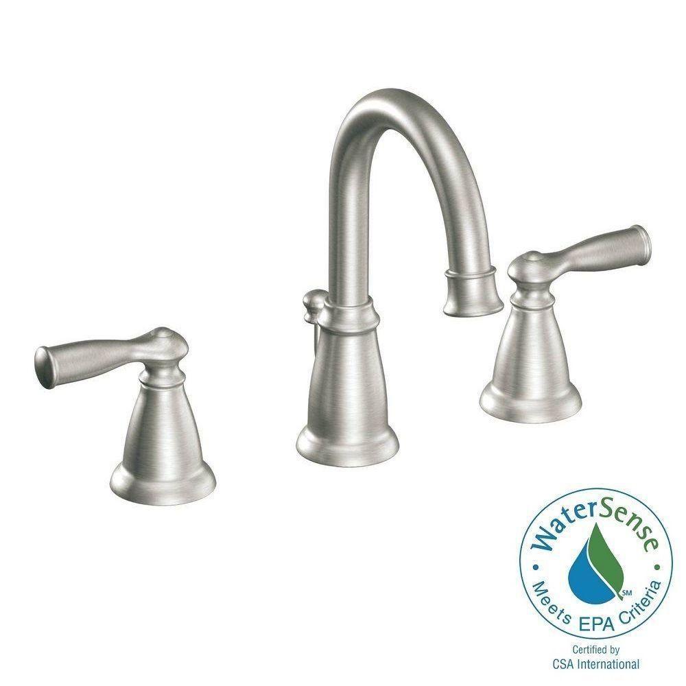 Moen Banbury 8 In Widespread 2 Handle High Arc Bathroom Faucet In