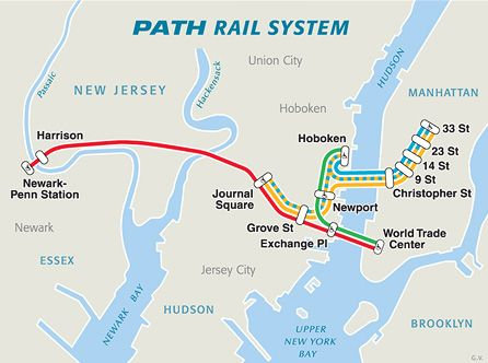 Exchange Place Station Path The Port Authority Of Ny Nj Jersey City New York City Travel Map Of New York
