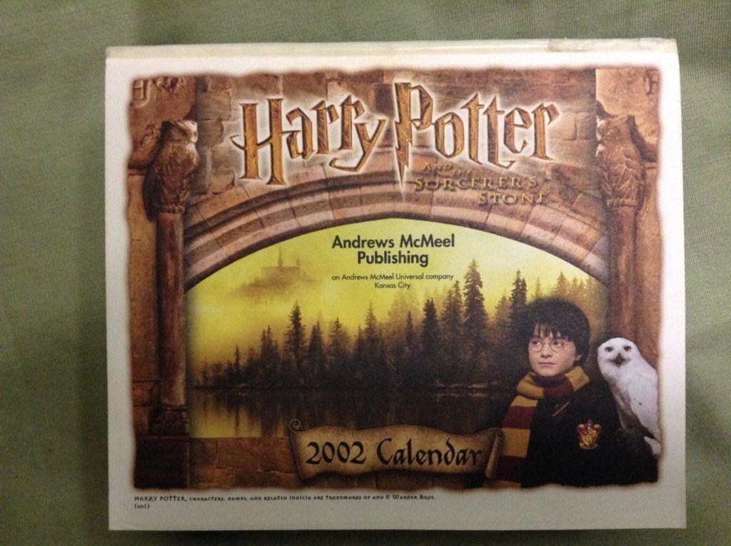 Vintage 2019 Harry Potter Desk Calendar From 2002 Harry Potter