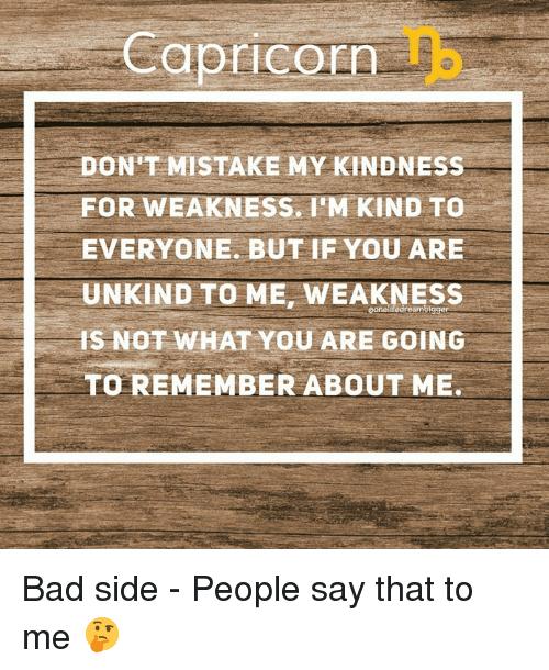 Bad side capricorn Dark Side