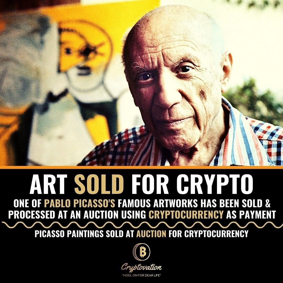 Art Sold For Crypto Cryptocurrency Famous Artwork Infographic