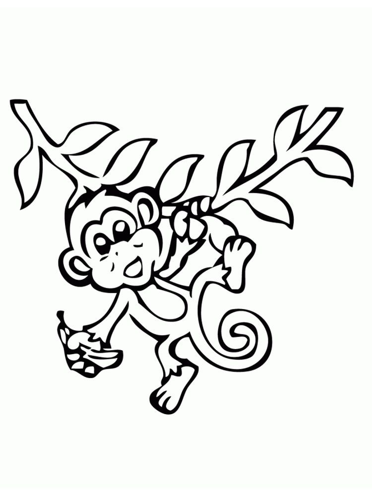 Monkey Coloring Pages Printable Monkeys Are A Term For All Members Of Primates That Are Not Monkey Coloring Pages Monster Coloring Pages Animal Coloring Pages