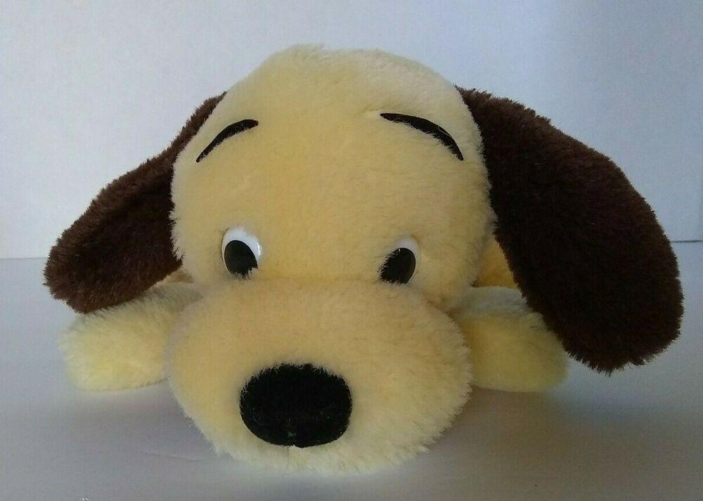 Vtg Dakin Drooper Dog Plush 1973 Animal Soft Stuffed Toy Yellow