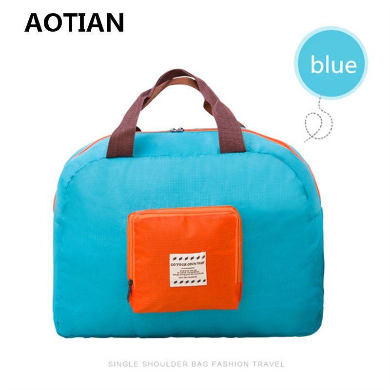 ec6f93e786 New Fashion WaterProof Travel Bag Large Capacity Bag Women Nylon Folding Bag  Unisex Luggage Travel Handbags