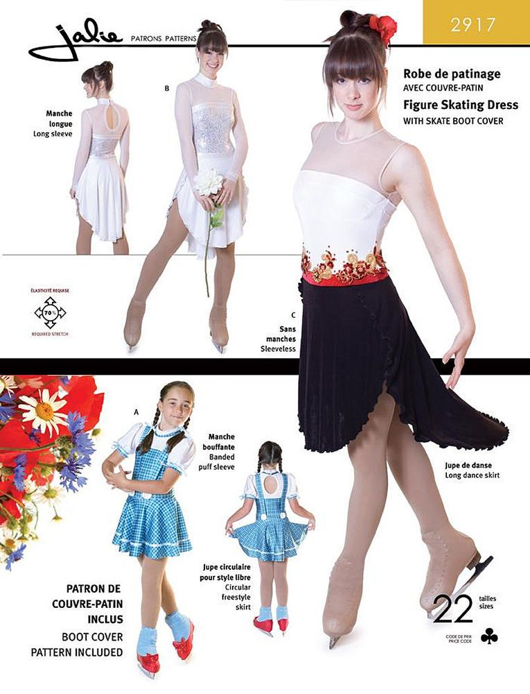 Details about Jalie Freestyle Dance Figure Skating Dress w/Skirt ...