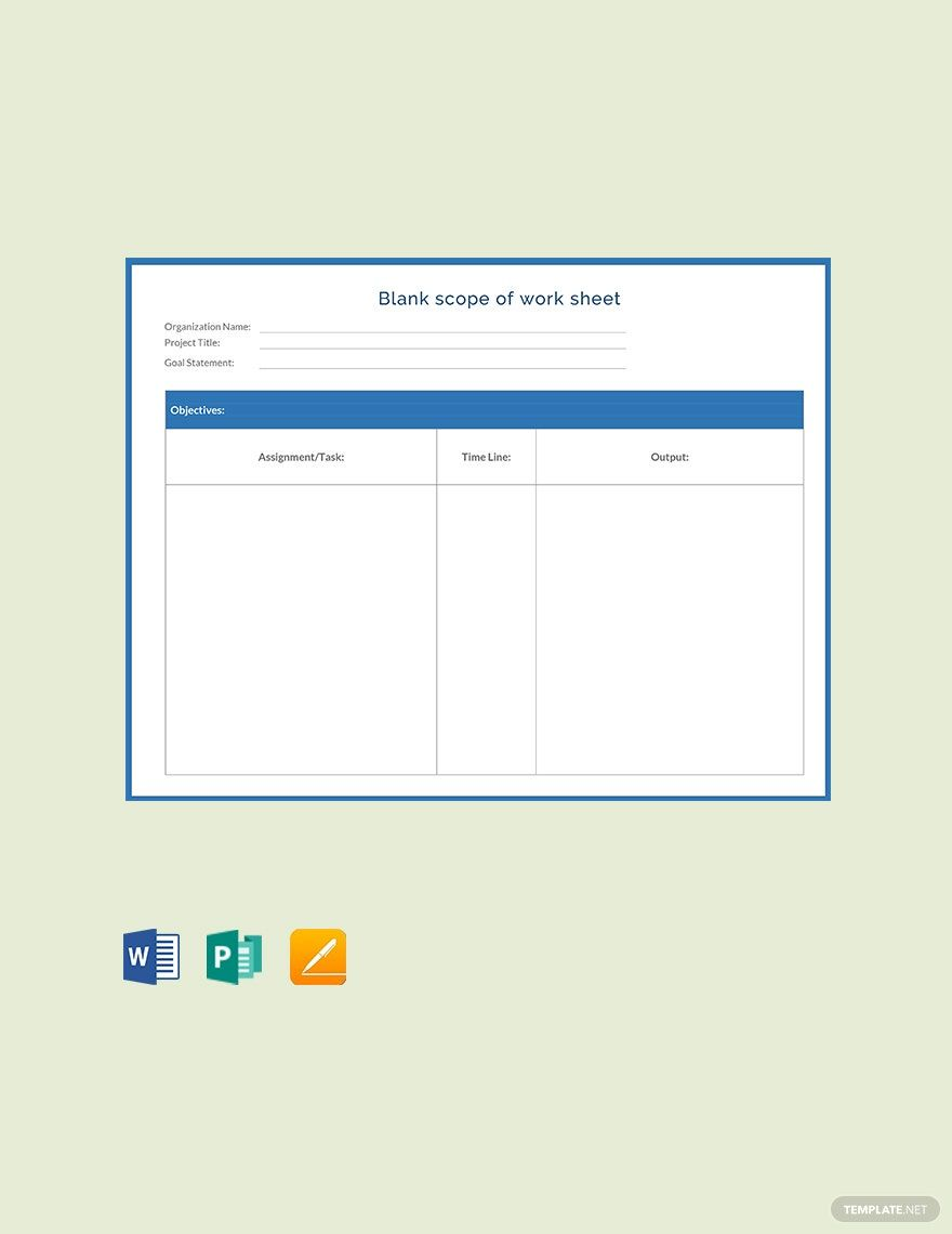 Pin On Quoted Plant Scope of work template word