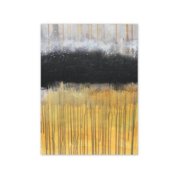 FLASH SALE - Abstract painting original art black white orange - Dreamstate 2 by Jessica Torrant